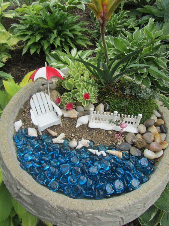 beach fairy garden fairy gardens pinterest gardens