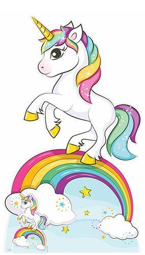 Rainbow Unicorn Lifesize Cardboard Cutout 163cm Fotos Unicornio