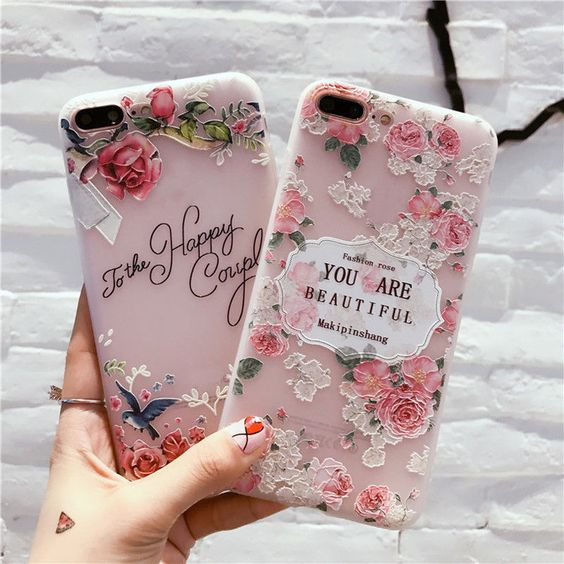 You are Beautiful Roses Flowers Vintage Retro Case Cover For iPhone 6 6s 7 Plus