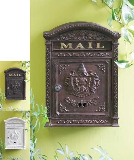 Victorian Wall Mount Locking Mailbox Boxes Of All Types