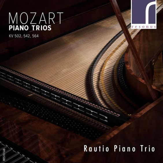 The Rautio Piano Trio make their Resonus Classics recording debut with a disc of three piano trios by Mozart – trios in B flat major, KV 502; in E major KV 542; and in G major, KV 564. Becoming particularly well-known for presenting a wide range of the trio repertoire on both period and modern instruments, the Rautio Piano Trio perform here on period instruments – including a fortepiano that once belonged to the late Christopher Hogwood CBE.