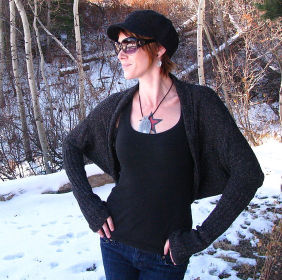 Ravelry: Wrist Warmer Cocoon Shrug pattern by Anne Carroll Gilmour