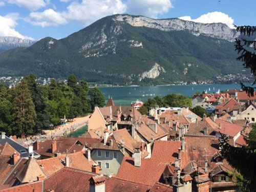 Vista da cidade a partir do Museu Château d'Annecy