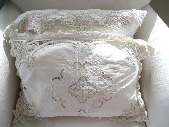 white lace cottage   with all their luscious lace