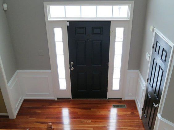 door tricorn black by sherwin williams walls wood smoke by. Black Bedroom Furniture Sets. Home Design Ideas
