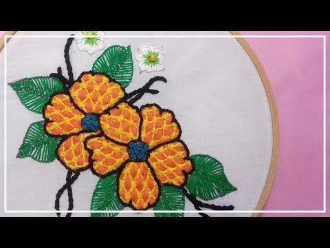 Puntadas Para Flores Bordados A Mano Paso A Paso Embroidery