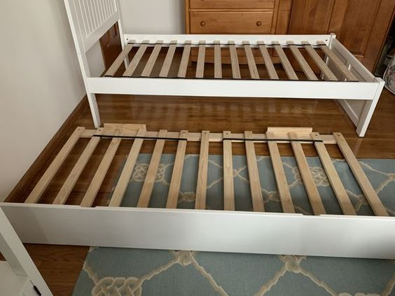 White Twin Bed Frame With Twin Trundle For Sale In Sparta Nj In