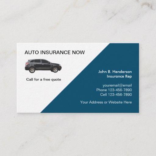 Auto Insurance Modern Business Card Design Zazzle Com Modern Business Cards Modern Business Cards Design Car Insurance