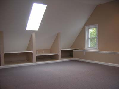 Attic storage using attic knee wall space basements for Utilizing attic space