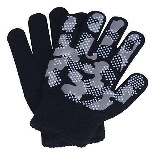 1 Pair Adults Magic Stretch Gripper Winter Outdoor Thermal Gloves