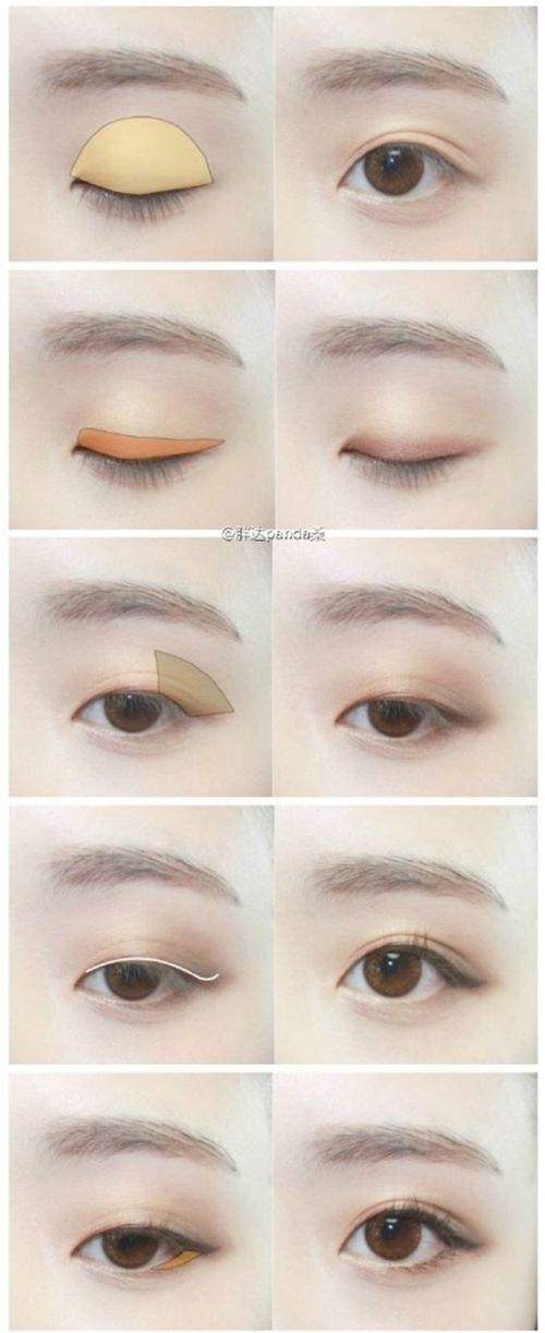 ว ธ แต งตา Natural Look Korean Eye Makeup Asian Eye Makeup