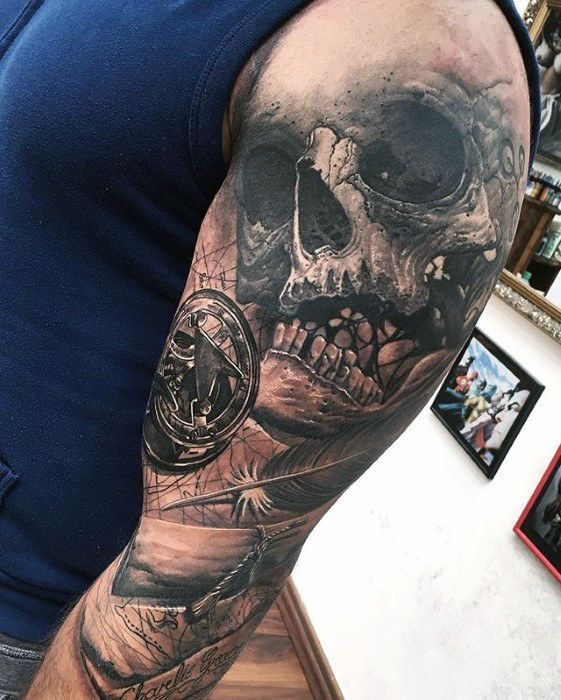 50 3d Sleeve Tattoos For Men Three Dimensional Design Ideas
