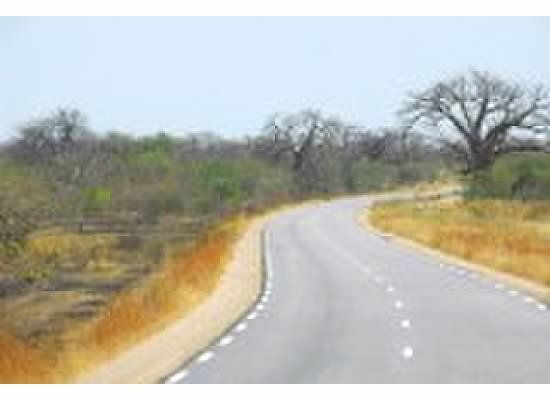rare paved road