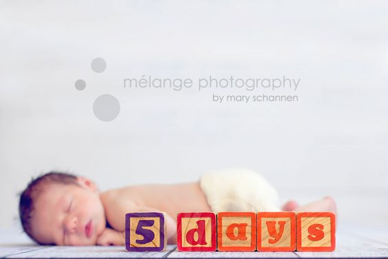 Spell the baby's name with blocks