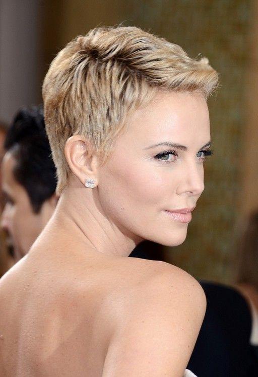 Strange Charlize Theron Haircuts And Pixie Haircuts On Pinterest Short Hairstyles Gunalazisus