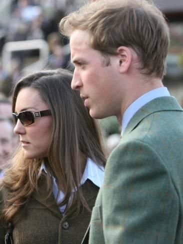 Photographic Print: Prince William and Kate Middleton, 13th March 2007 : 24x18in