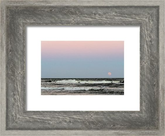 Moon Rising Same Time As Sun Setting - Colorful Sky Framed Print featuring the photograph Moon Rising Same Time As Sun Setting - Colorful Sky by Debra Martz
