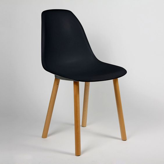 Design Tower Wood Chair, Black | ACHICA