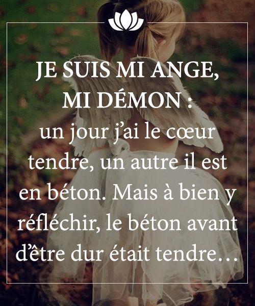 Mi Ange Mi Démon | citations | Pinterest | Bonheur, Couple