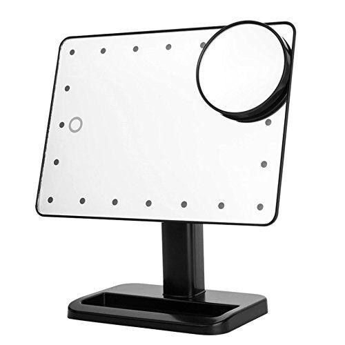10x Vergrosserungsglas Led Touch Screen Kosmetikspiegel Portable 20