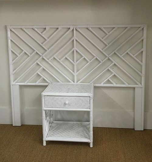 Chippendale Queen Size Bedhead, White