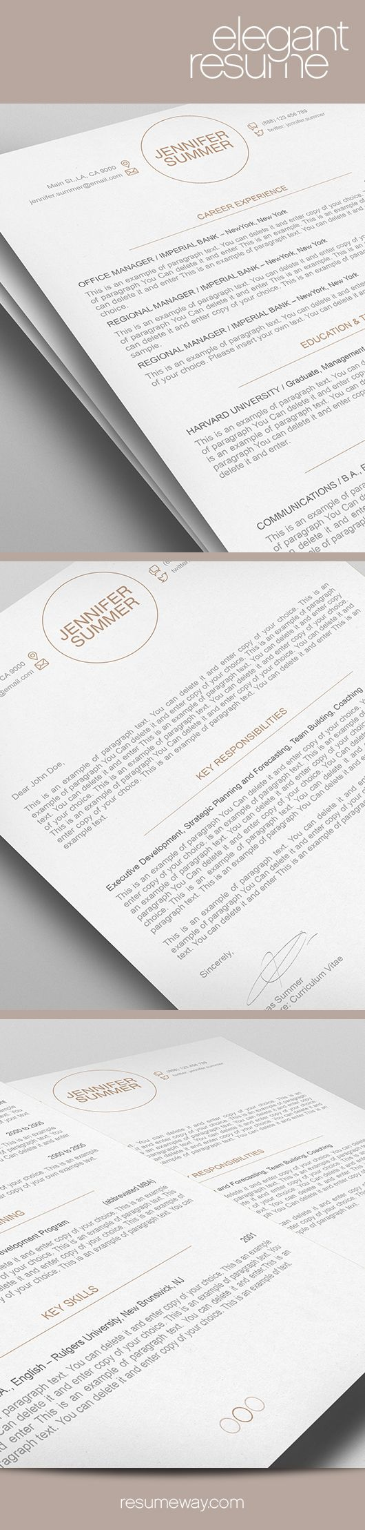 resume  resume templates and resume cover letters on pinterest
