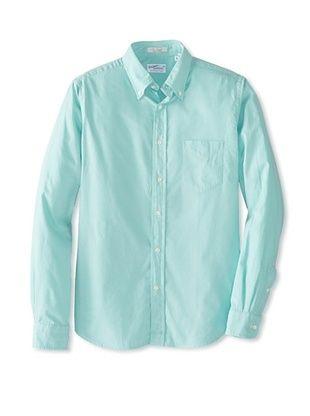 Mens Mint Button Up Shirt