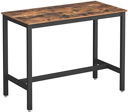 Buy Vasagle Alinru Dining Table Bar Table Solid Metal Frame