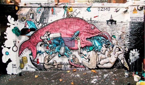 Big Fish Eat Small Fish by Ozmo