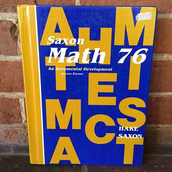 Saxon Math 76 Home School Curriculum Textbook Second Edition Hardcover | eBay