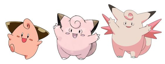 cleffa clefairy clefable 173 035 036 evolutions