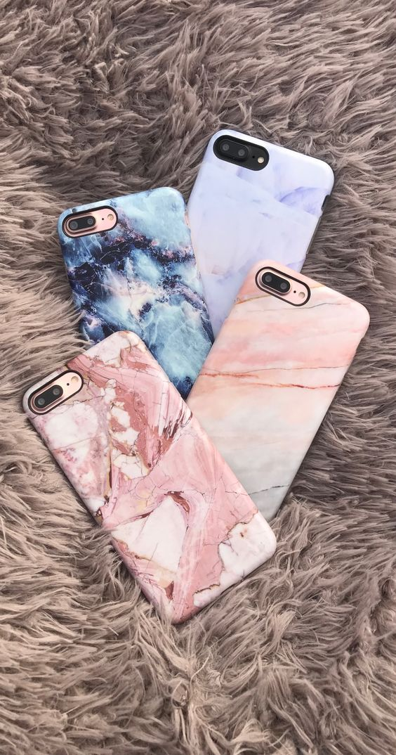 Marble Case in Rose, Smoked Coral, Geode & Northern Lights from Elemental Cases. Shop Cases for iPhone 6/6s, 6 Plus/6s Plus, 7 & 7 Plus now!: