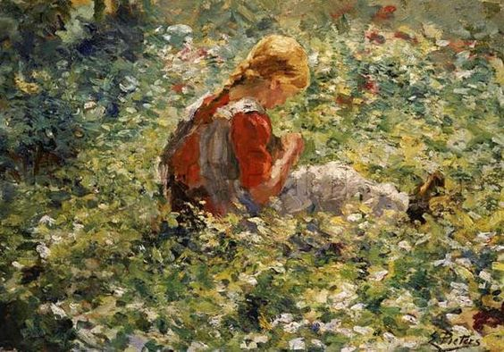 A Young Girl In A Flower Garden Giclee Print Poster by Evert Pieters Online On Sale at Wall Art Store – Posters-Print.com