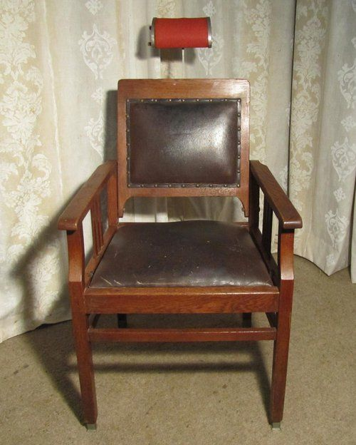 Dutch 19th Century Dentists Chair Barber S Antiques - Antique Wooden Barber Chair - Best 2000+ Antique Decor Ideas