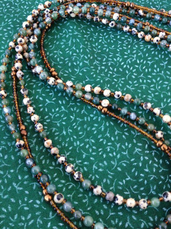 Bohemian gypsy multiple strand stacking by NanabojoDesigns on Etsy, $38.00