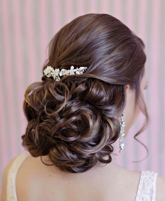 Gorgeous updo wedding hairstyle; Featured: Websalon Weddings