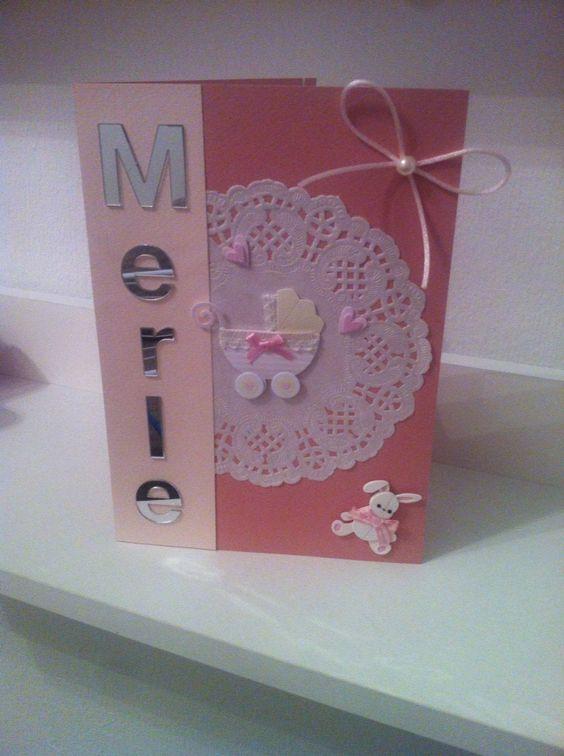 Super süße Karte zur Geburt, ganz einfach gemacht mit ein paar Utensilien ausm Bastelgeschäft :-)
