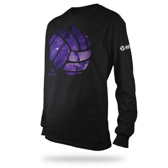 Galaxy Ball Long-Sleeve T-shirt - No Dinx Volleyball