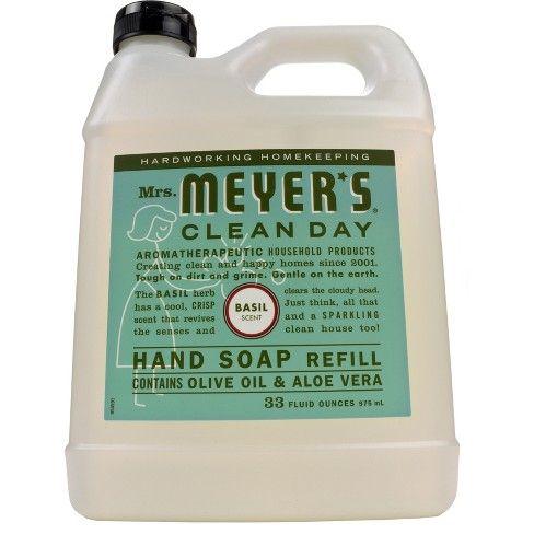 Mrs Meyer S Basil Scented Liquid Hand Soap Refill 33 Fl Oz Liquid Hand Soap Cruelty Free Soap Hand Soap