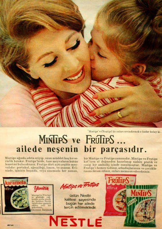 OĞUZ TOPOĞLU : nestle mintips ve frutips 1967 nostaljik eski rekl...