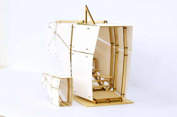 "spatiallyobvious: "" midgetsarentreal: "" Pavilion study models. "" This is really good Evan! """
