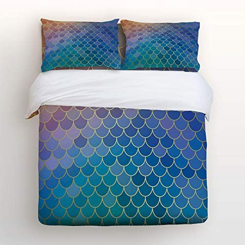 Colorful Ombre Duvet Cover Set Twin Queen King Sizes with Pillow Shams