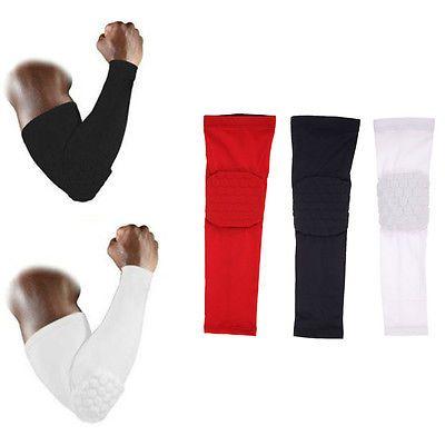 Honeycomb Pad Crashproof Basketball Football Shooting Arm Sleeves Elbow Support