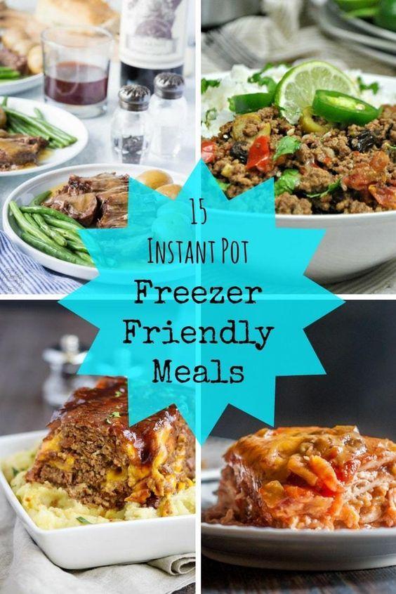 15 Instant Pot Freezer Friendly Meals
