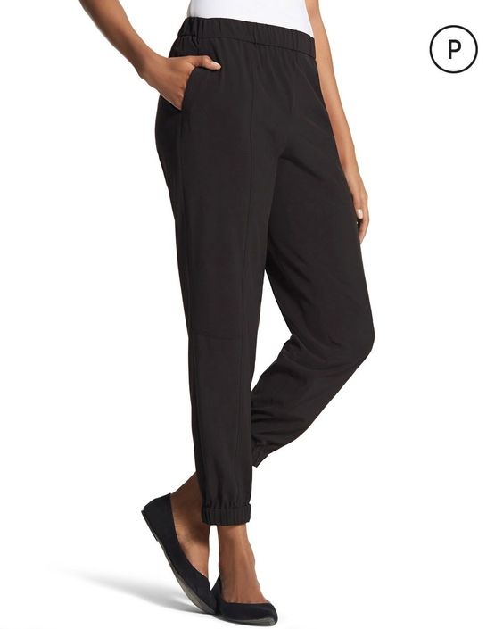 Chico's Women's Zenergy Petite Neema Ankle Detail Pants
