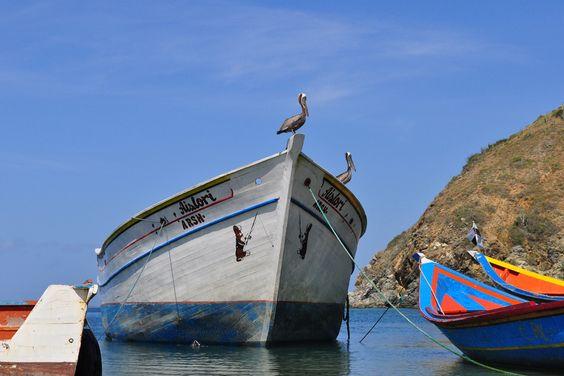 Paisaje marinero. Isla de Margarita, Venezuela.