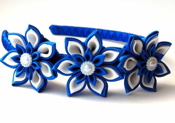Hey, I found this really awesome Etsy listing at https://www.etsy.com/listing/226649715/kanzashi-fabric-flower-headband-shades