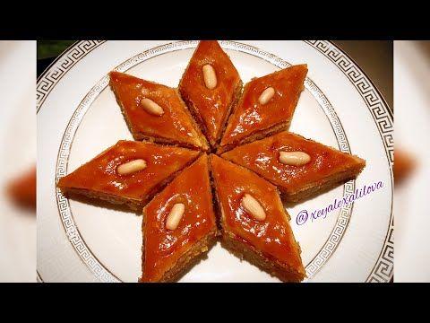 Paxlavanin Cox Asan Hazirlanmasi Paxlava Asan Resept Baklava Tarifi Azerbajdzhanskaya Pahlava Youtube Baklava Soba Food