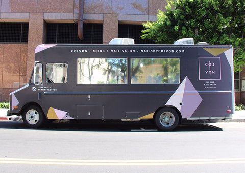 This Nail Salon Truck Will Actually Drive To Wherever You Are Mobile Nail Salon Mobile Hair Salon Nail Salon