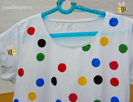 Baúl Desastre: DIY camiseta de lunares